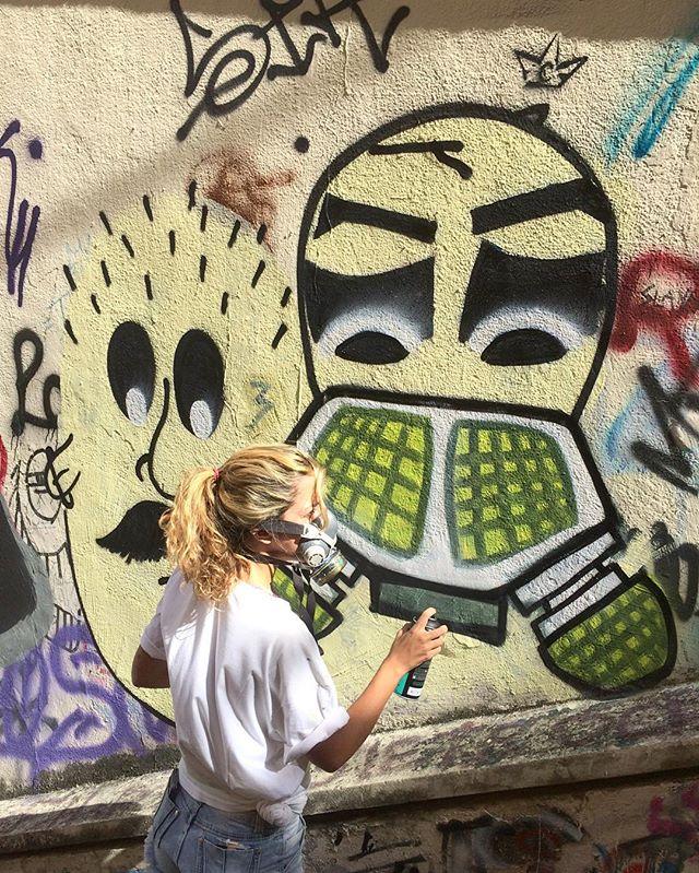 Rolé de hoje com a promessa do graffiti ️