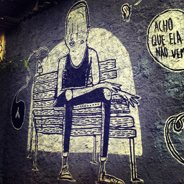 #streetart . #blackandwhite #senna #streetartrio #waiting by @alexsenna #alexsenna