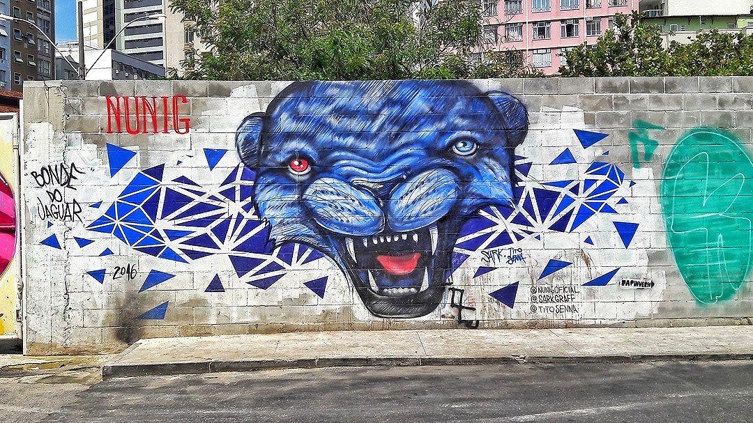 #StreetArtRio  Grafite na rua Arno Konder, na junção com a rua Governador Irineu Bornhausen, no Flamengo. Artistas: Nunig (@nunigoficial), Sark (@robson_sark) e Tito Senna (@titosenna) Tirada em 16/11/2016 ____________________________________  Quer conhecer mais obras destes artistas e de tópicos relacionados? Explore mais em: #g021_nunig #g021_sark #g021_titosenna
