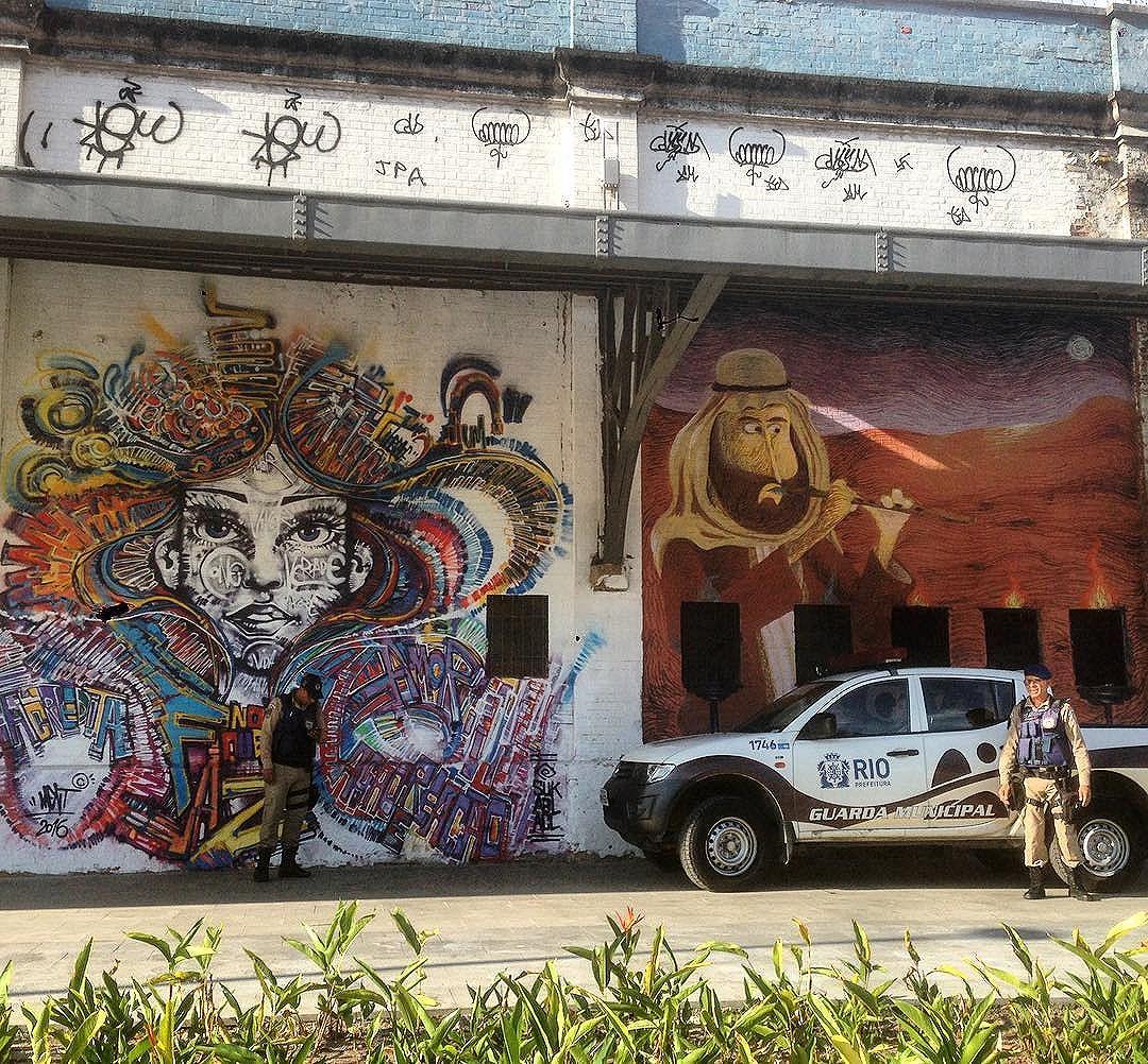 Art done by @marceloment and @cazearte #graffiti #graffporn #streetart #streetartrio #streetartglobe #urbanart #spraydaily #muralsdaily #riodejaneiro #brazil
