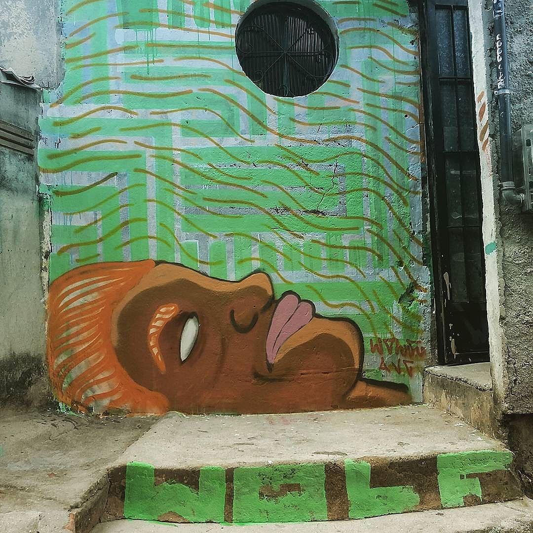 Desenho baseado no rosto do meu irmão caio #wolf #vandal #streetart #streetartrio #graffiti #instagraffiti