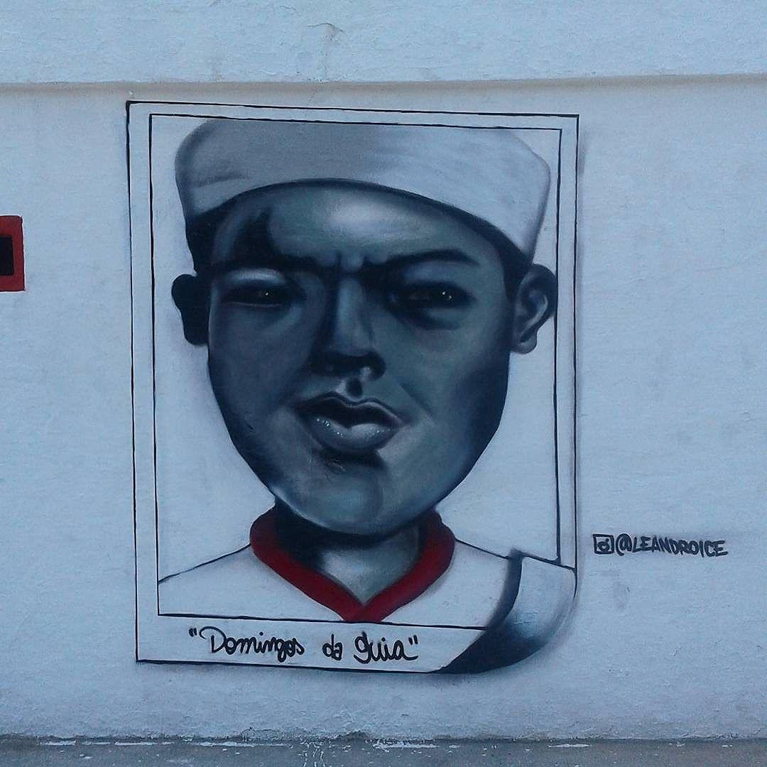 Domingos da Guia  #graffiti #streeart #streetartrio #arteurbanabr #leandroice #domingosdaguia #bangu #banguatleticoclube #zonaoeste #futebol