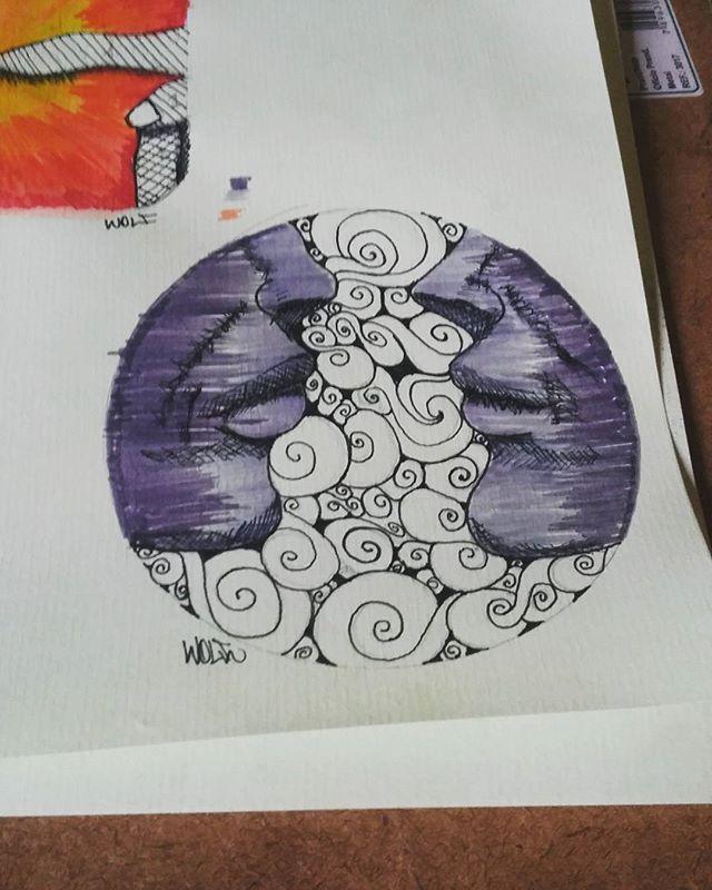Estudos.... #calvinwolf #wolf #vandal #streetart #streetartrio #graffiti #instagraffiti #ilustração #sketch #tattoo