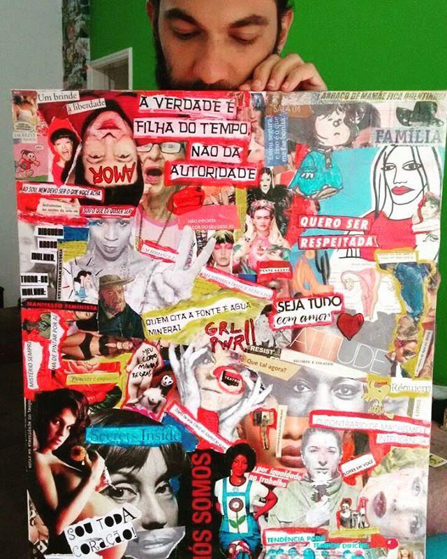 Mais um trabalho entregue! Painel de 50x60cm para @nataliasambrini que ja coloriu sua parede. Quer um também?  Aceito encomendas!! #palavrasachadasnarua #poesiadeparede #poesiaderua #poesia  #streetartrio #streetartistry #colagem #colagembrasil #instacollage #collageartist #collageart #collages #collageoftheday #arteurbana #streetart #streetstyle #streetwear #laranjeiras #riodejaneiro  #riodejaneiroinstagram #oqueasruasfalam #detalhe #detail #mural #muralsdaily #murals #aceitoencomendas #divagacoesapenas