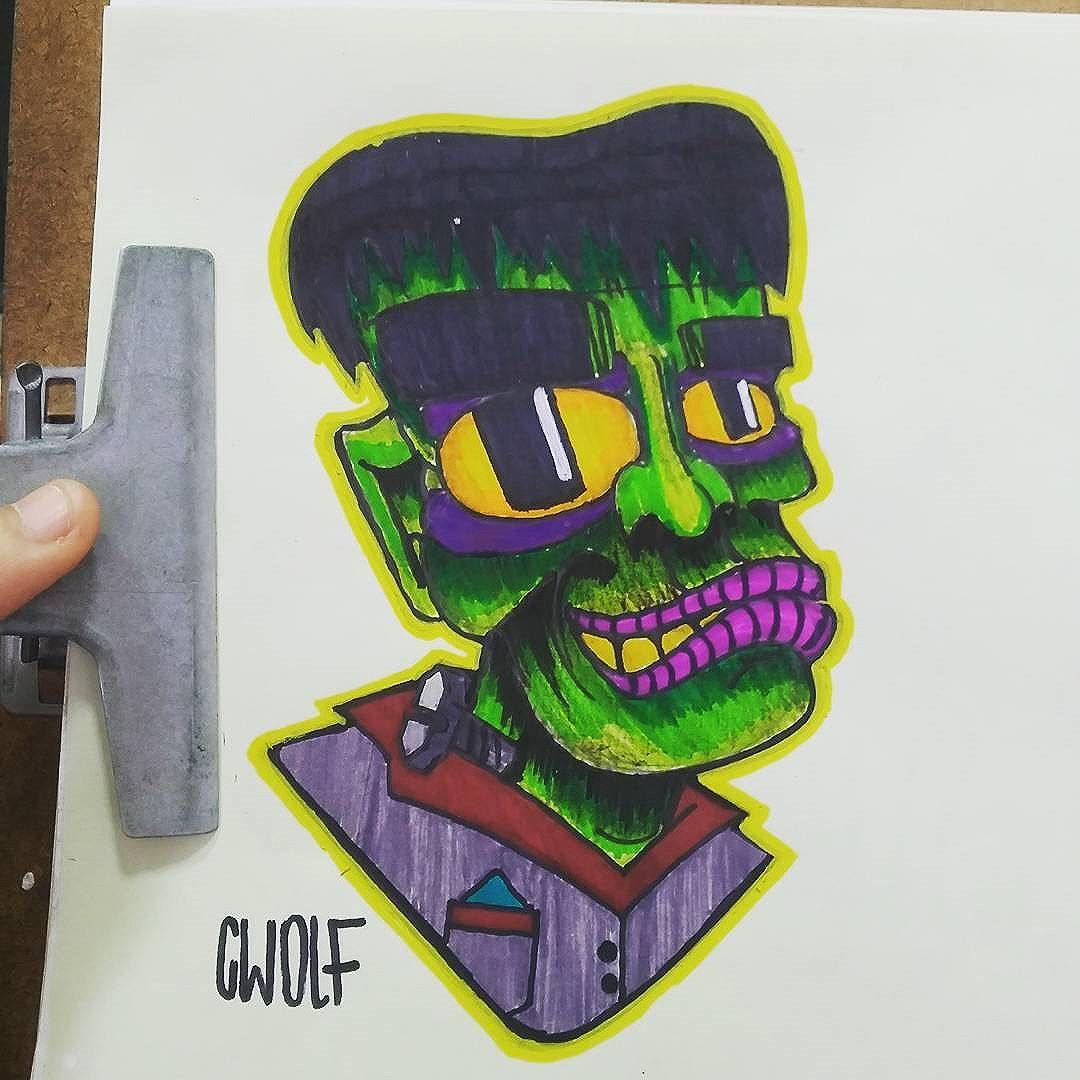Mr  Frank  Estudos  #wolf #vandal #streetart #streetartrio #graffiti #instagraffiti #ilustração #sketch #tattoo #newschool #cartoon