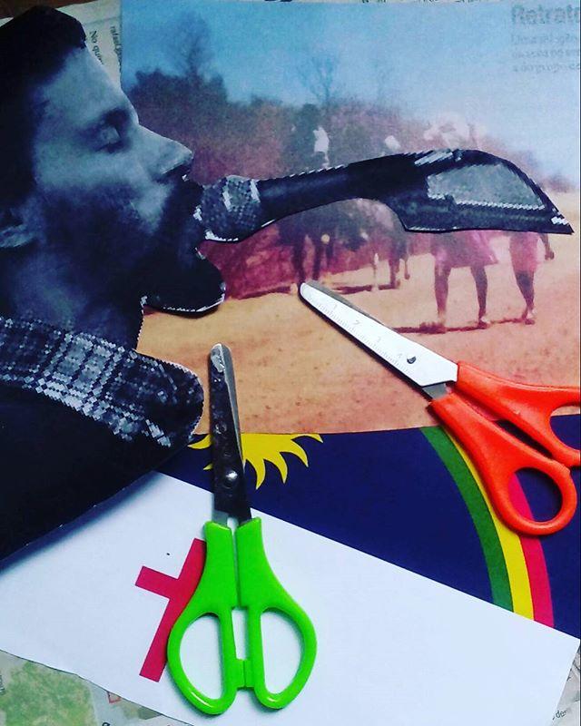 Não pára não pára não! Mais um painel em processo, Tesouras preparadas.  #palavrasachadasnarua #poesiadeparede #poesiaderua #poesia  #streetartrio #streetartistry #colagem #colagembrasil #instacollage #collageartist #collageart #collages #collageoftheday #arteurbana #streetart #streetstyle #streetwear #laranjeiras #riodejaneiro  #riodejaneiroinstagram #oqueasruasfalam #detalhe #detail #mural #muralsdaily #murals #divagacoesapenas #aceitoencomendas #pernambuco #nordeste