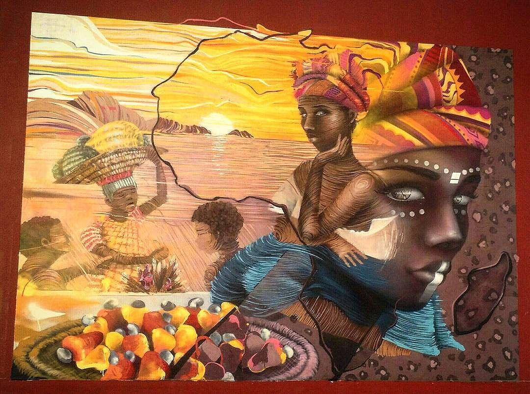 """O Armazém da Utopia recebeu sete painéis de grafite inspirados em quadros de Debret. Este é um deles. O trabalho, parte do projeto """"Inscrever os Direitos Humanos em 1 e 1000 escolas do Rio de Janeiro"""", da Associação Inscrire Brasil, tem como missão difundir temas como cidadania e direitos fundamentais entre alunos de escolas e creches públicas #streetart #arteurbana #urbanart #artederua #boulevardolimpico #zonaportuaria #RiodeJaneiro #errejota #cariocagram #aboutrio #streetarteverywhere #carioquissimo #StreetArtRio #role #porainoRio"""