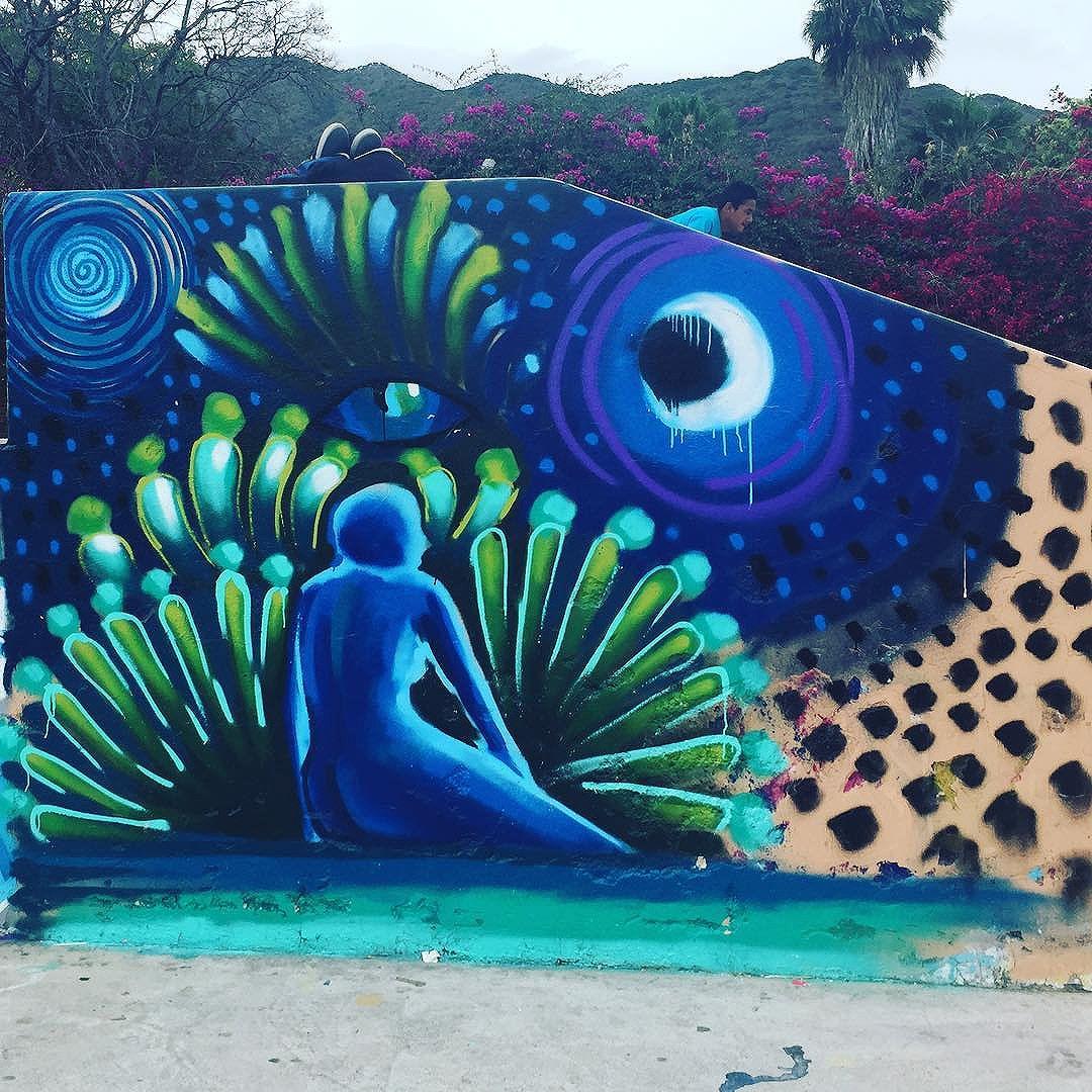 #spacey #streetart on the #malecon in #ajijic #mexico #publicart #graffiti #instagraffiti #urbanart #graffart #graffitiart #graff #streetartrio #murals #popart #newpublicart #graffitistreet #wallgraffiti #kunst #art #sprayart #wallart #publicartwork #art_public