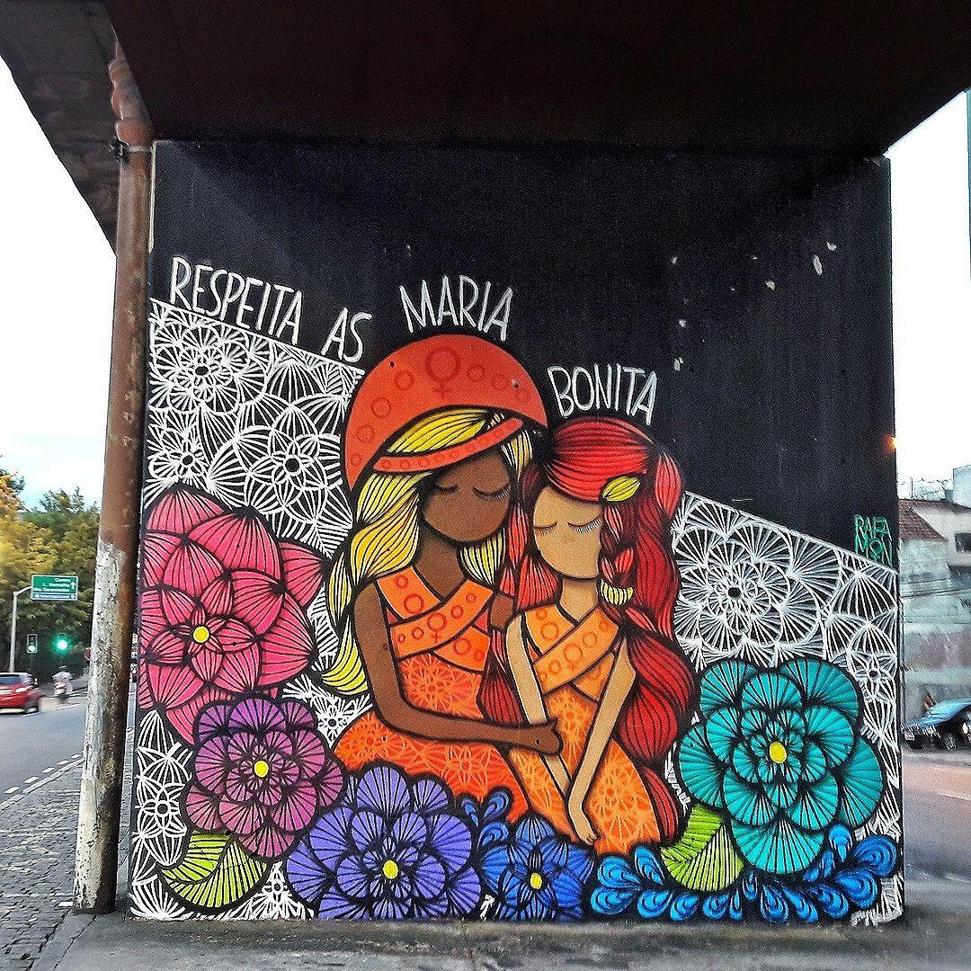 #StreetArtRio  #DiaInternacionaldaMulher  Em honra ao significado desse dia, hoje os posts são exclusivamente de artistas mulheres.  __________________________________________  Grafite no Campo de São Cristóvão, debaixo do viaduto da entrada para a Linha Vermelha, em São Cristóvão.  Artista:  Rafaela Monteiro (@rafamon__)  Tirada em 07/03/2017 __________________________________________  Quer conhecer mais obras desta artista e de tópicos relacionados? Explore mais em: #g021_rafamon #g021_grafiteiras .  #internationalwomensday #womensday #diadamulher #diadasmulheres