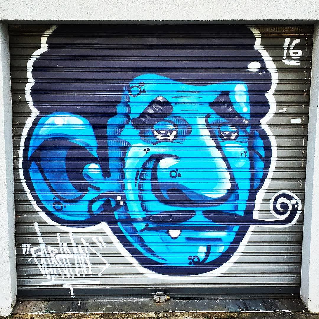 #face on the #garage #door #curitiba #streetart from my recent trip to #Brazil with the http://www.shuffledemons.com #streetart #publicart #graffiti #instagraffiti #urbanart #graffart #graffitiart #graff #streetartrio #murals #popart #newpublicart #graffitistreet #wallgraffiti #kunst #art #sprayart #wallart #publicartwork #art_public #streetartcuritiba #curitibainstagram #curitibapics