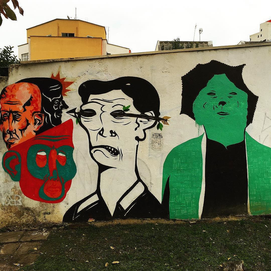 #five #faces of #curitiba #streetart from my recent trip to #Brazil with the http://www.shuffledemons.com #streetart #publicart #graffiti #instagraffiti #urbanart #graffart #graffitiart #graff #streetartrio #murals #popart #newpublicart #graffitistreet #wallgraffiti #kunst #art #sprayart #wallart #publicartwork #art_public #streetartcuritiba #curitibainstagram #curitibapics