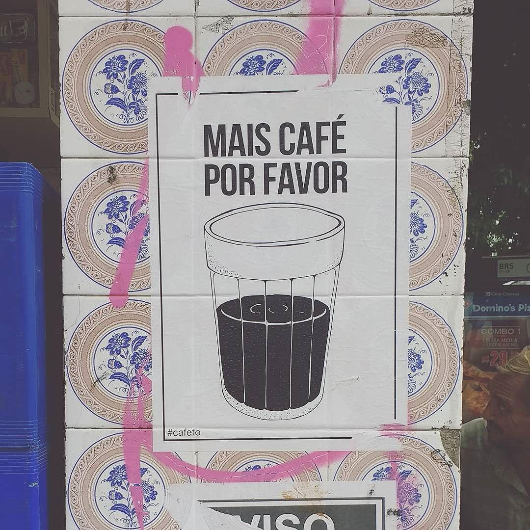 """more coffee, please""  #coffee #streetart #lambe . . . #streetphotography #streets #riodejaneiro #errejota #rio021 #carioca #carioquissimo #igersrio #igersbrasil #achadosdasemana #brstreet #arteurbano #urban #art  #photooftheday #instagood #vscocam"