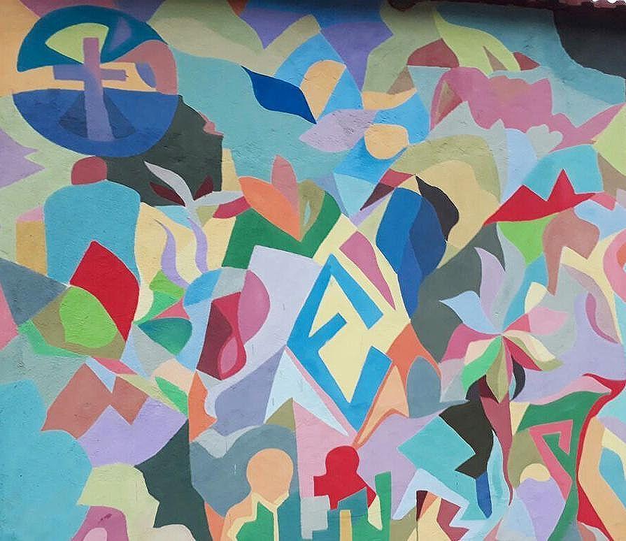 Trecho do #mural no #cosmevelho !  #contemporarypainting #contemporaryart #graffiti #pinturabrasileira #cores #colors #tamoyo #artaddict #streetartrio #artebrasileira