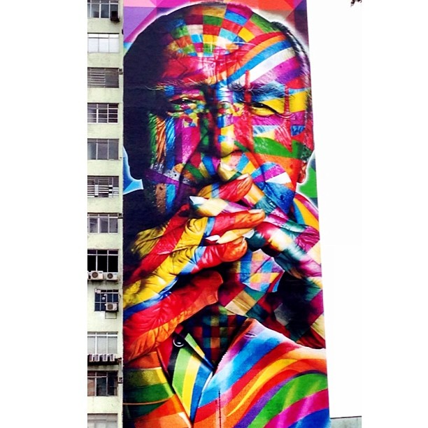 Good Morning! Work by Eduardo Kobra @eduardokobra at Av Paulista, SP