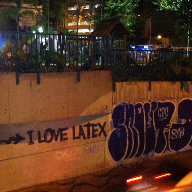 #ilovelatex at #pracaroosevelt