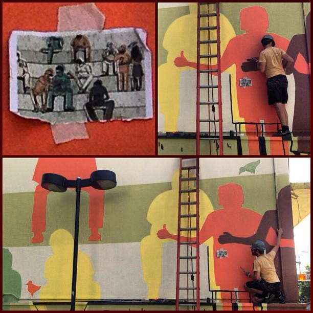 a cada 6 meses surge um novo painel by @basev #streetartsp #sescpinheiros