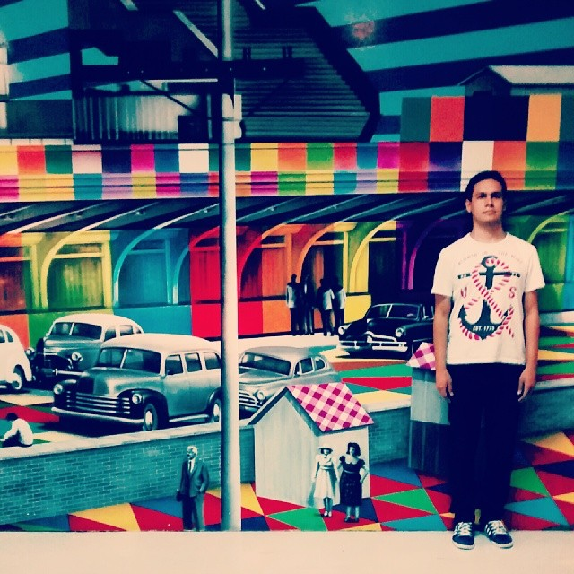 Acho incrível as pinturas do #Kobra ... Quem viu a pintura de Oscar Niemeyer na Av. Paulista sabe do que estou falando. Quanto a foto, acabei me inspirando nos trabalhos do fotógrafo @gotlib
