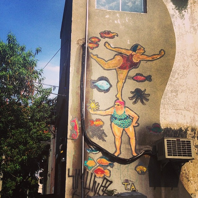 Praia na Paulicéia #streetart #streetartsp #artederua #grafite