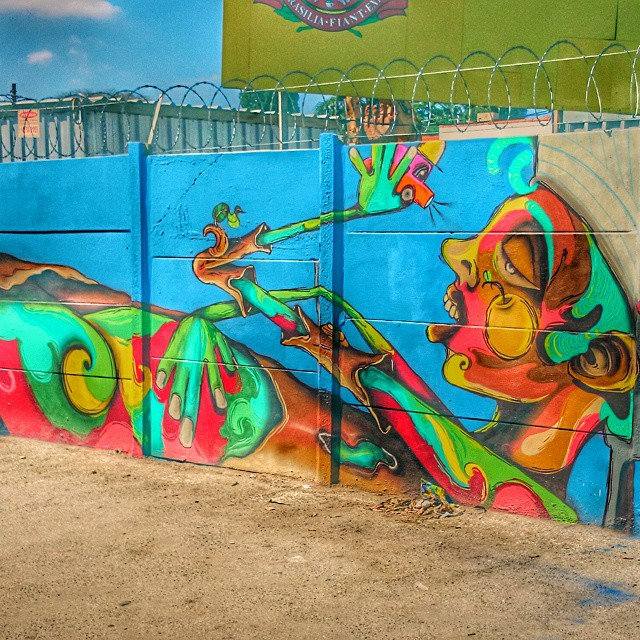 Arte na rua. Av. Roberto Marinho esq. Vereador José Diniz. #streetartsp
