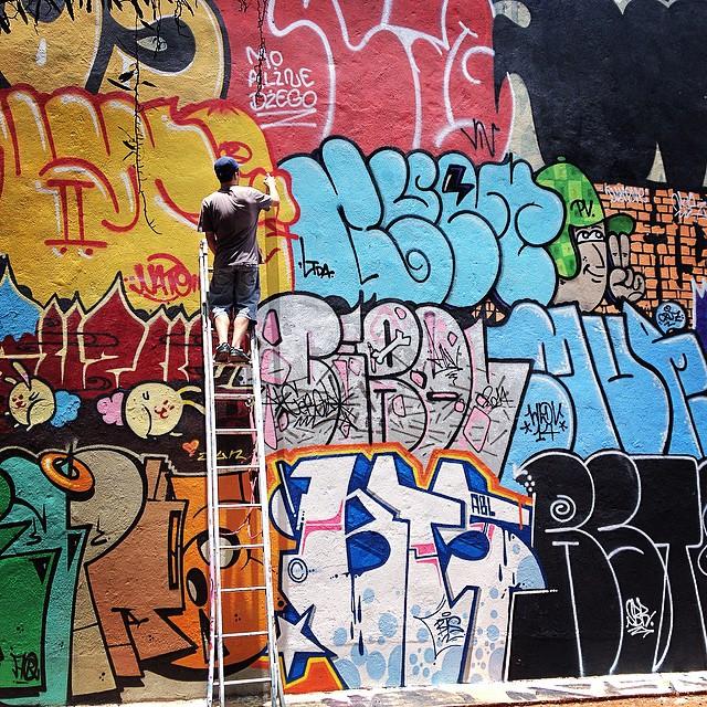 One more from yesterday's Sopa de Letras #znlovers #sopadeletras #zonanorte #santana #graffiti #streetartsp #wallart #paint #roller #spraycan #brazilstreetart #artederua #ruanews #chavezrip #chavez #ripchavez #jacktwo #coolsampa #sampa