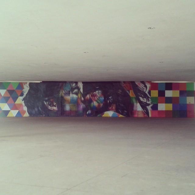#streetartsp #streetart #urbanart #parqueibirapuera #marquise #kiss #beijo