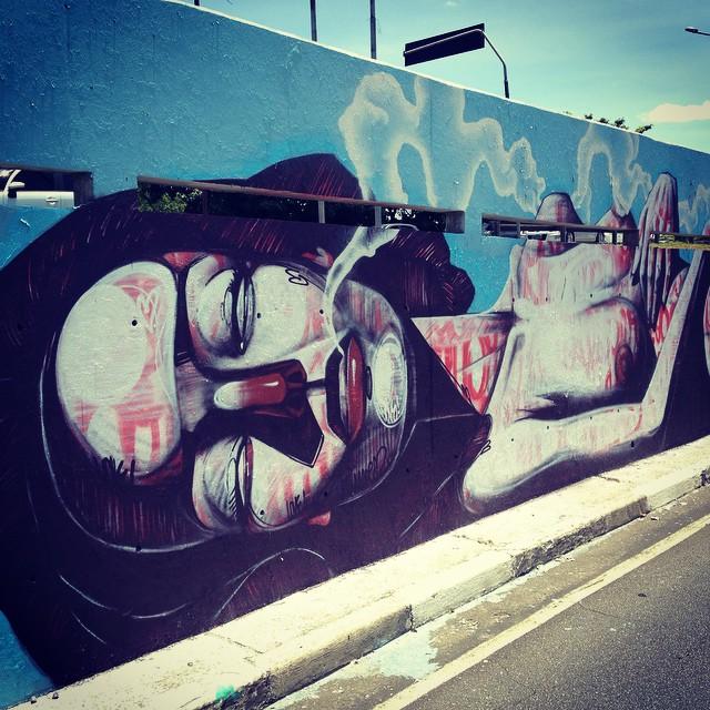 Part of the great wall of 23 de Maio by @titoferrara #titoferrara #sambadograffiti #sampagraffiti #graffiti #graffiti_clicks #grafite #graf #streetart #streetartsp #streetphoto #streetarteverywhere #streetartphotography #spray #SPBGRAFITE #spraypaint #urbanwall #urbanart #wallart #saopaulo #brasil #rsa_graffiti #DSB_graff #braznu #sampa #tv_streetart #saopaulocity #tv_sa_simplicity_graff #streetartofficial