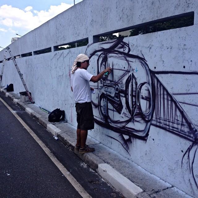 Tito Ferarra Ibirapuera - São Paulo #titoferrara #23demaio #streetartsp #streetartsaopaulo #streetarbrazil #sampagraffiti #dopeshotbro #DSB_Graff #streetartandgraffiti #urbanart #graffiti #ArtDeLaRue #coolsampa #rsa_graffiti #streetart #grafite #streetartshots #streetartuncovered #instagraff #i_support_street_art #isuportstreetart #streetartofficial #sprayart #tv_streetart #saopaulosao #igerssaopaulo #elgraffiti #stencil #estencil #stencilart