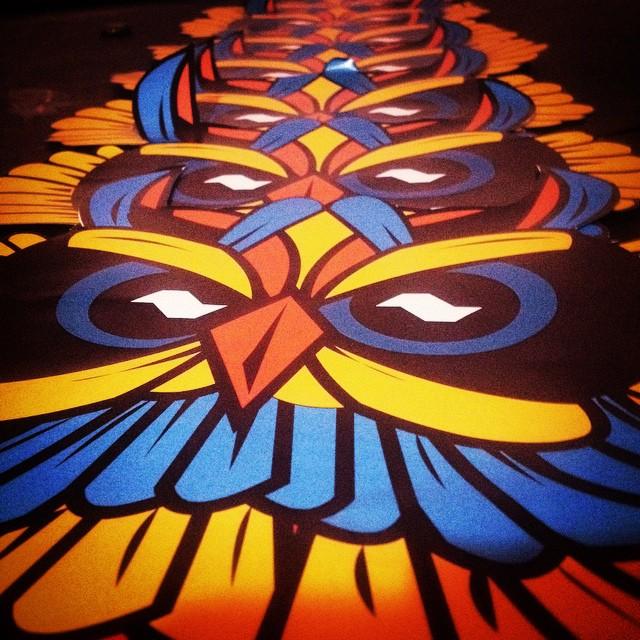 Vamo #streetart #sp #sampafuckingcity #owl #CDLXI #vamoprarua #sticker #streetartsp