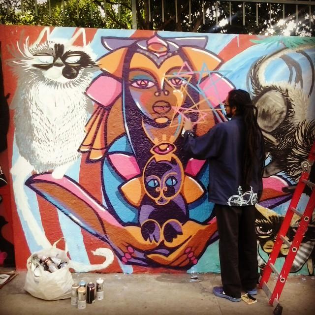 Agora encontro da #pompéia #processo #streetartsp #mural com #gatuno @cadumen #urbanartsp