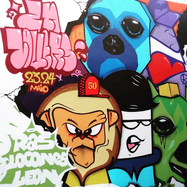 Wall art of ZN Lovers Crew ( Ras + @leon_znlovers + @locones ) to announce the Graffiti workshops at Kingcap ( @kingcapsp @daniel.neri ) #leon #locones #sambadograffiti #sampagraffiti #graffiti #graffiti_clicks #grafite #graf #streetart #streetartsp #streetphoto #streetarteverywhere #streetartphotography #spray #spraypaint #urbanwall #urbanart #wallart #saopaulo #brasil #rsa_graffiti #DSB_graff #braznu #sampa #tv_streetart #saopaulocity #tv_sa_simplicity_graff #streetartofficial