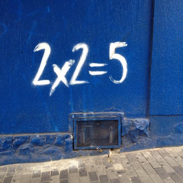 You do the math #maths #math #streetartsp #sigastreetart #artederua #urbanart #streetart #sampa #pinheiros #2x2=5 #jacktwo #artederua #wallart #ruanews #rua #streetarteverywhere #dopeshotbro #dsb #instagraffiti #saopaulo #sigastreetart #sigastreerartsp #sigagraffitisp