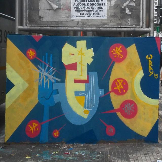 #streetartsp #streetartbrazil #streetart #streetartsaopaulo #sampa #saopaulo #urbanart #artederuasp #artederua #arteurbana #arteurbanasp #grafitesp #grafite #graff #graffiti #arte #art #consolaçāo #passagemliterariadaconsolacao #tomwray # tribal #mask. #mascara