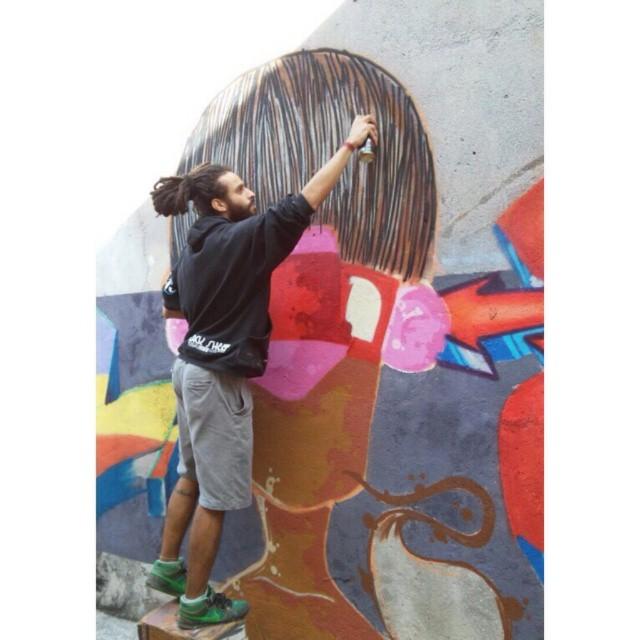 Ação/Action + @truenose + @bonus.graf Foto: @bonus.graf São Paulo - ZN - 2015 #graffiti #graff #instagrafite #sampagraffiti #graffart #streetart #streetartsp #urbanart #color #cores #colors #colores #action #acao #arte #art #indio #friends #amigos #sp #sampa #sampacity #maiscorporfavor #brazil #jdtremembe #zn #brazilianartist #artist #spray