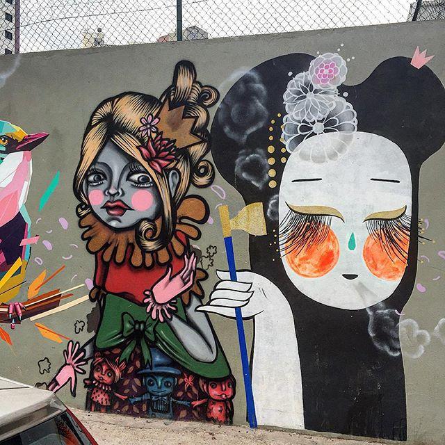 Detalhe do coletivo na Paim  @tikkameszaros & @ericamizutani #tikkameszaros #ericamizutani #arteurbana #coolsampa #grafite #graffiti #graffitisaopaulo #graffitisp #instagraffiti #instasaopaulo #sampa #saopaulo  #sp #splovers #streetart #streetartsaopaulo #streetartsp #streetartbrasil #urbanart #sigagraffitisp 21/08/15.