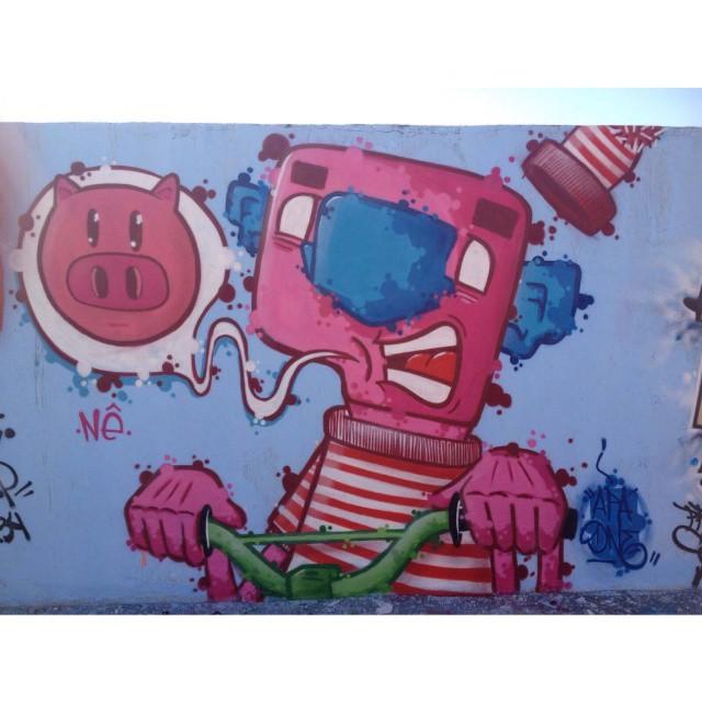 Vá de Bike 4° Diademais Arte +@magnaboschi Diadema - SP - 2015 #graffiti #graffitiartist #graffitiart #graff #graffart #arte #art #arts #instagrafite #sampagraffiti #brazilianart #brazilianartist #braziliastyle #artist #urbanart #urbanartist #urbanstyle #streetartsp #streetart #arteurbana #colors #color #cores #apa #apaone #maiscorporfavor #diademaisarte #bike