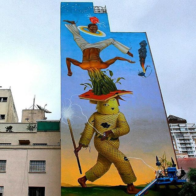 @aec_interesnikazki + @waone_interesnikazki для фестиваля @o.bra в Сан-Паулу. Photo by @cinthiamcastro. #interesnikazki #obrafestival #streetartbr #streetartsp #граффити_tschelovek #streetart #urbanart #graffiti #mural #стритарт #граффити #wallart #graffitiart #art #paint #painting #artederua #grafite #arteurbana #wall #muralist #artwork #graff #artist #graffiticulture #graffitiwall #streetart_daily #streetarteverywhere