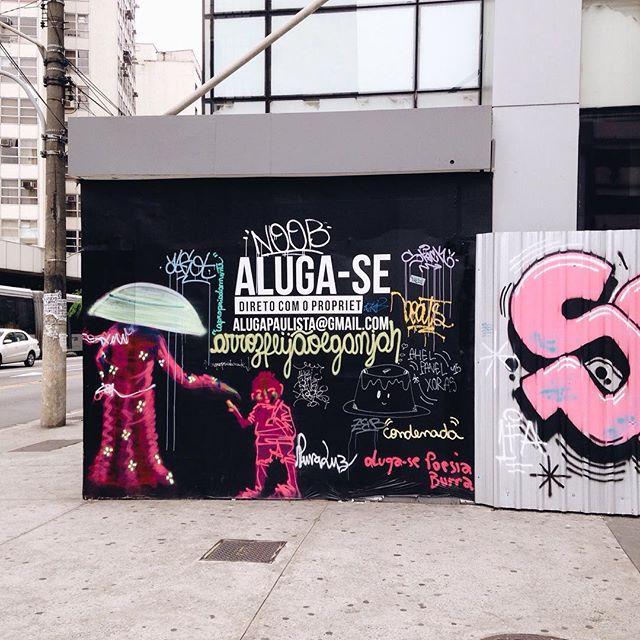 Aluga-se #sp #pixelshow #typography #type #tipografia #streetartsp