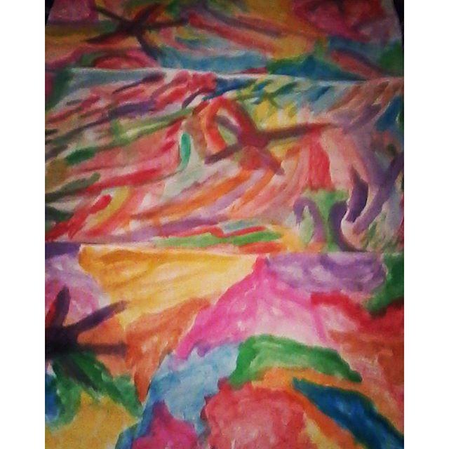 Lambe (3 partes) em parceria com @delsodre - breve na rua! #workinprogress #streetartsp #streetart #artederua #arteurbano #arteurbana #urbanart #aquarela #watercolor #wheatpaste #coladefarinha #lambelambe #reolif #del_reolifart #arte #art #coolsampa #vejasp #abstrato #abstract
