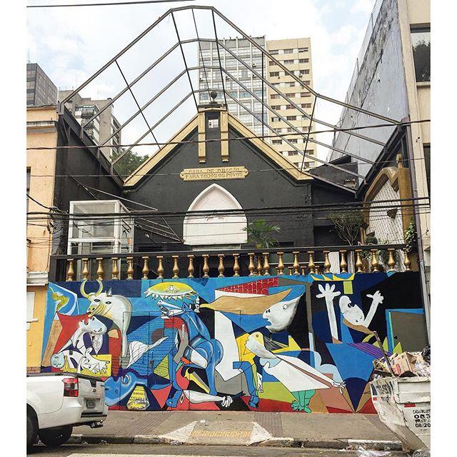 """SampaGuernica"" art ??? #bixiga #arteurbana #coolsampa #grafite #graffiti #graffitisaopaulo #graffitisp #instagraffiti #instasaopaulo #sampa #saopaulo #saopaulocity #sp #splovers #streetart #streetartsaopaulo #streetartsp #streetartbrasil #urbanart #sigagraffitisp 21/10/15."