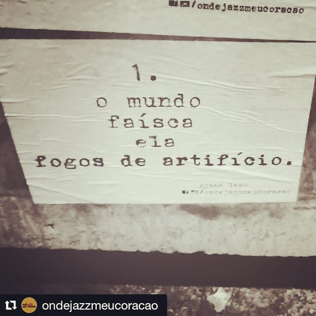 About fire.  #Repost @ondejazzmeucoracao with @repostapp ・・・ burning.  #ondejazzmeucoracao #streetartsp #011 #artederua #intervençãourbana #splovers #vozesdacidade #lamblamb #sp #lambelambe #olheosmuros #osmurosfalam #arteurbana #vinarua #acidadefala #olheosmuros #poesiaderua #asruasfalam #oqueasruasfalam #pelasruas #taescritoemsampa #urbanart #pelosmuros #txturbano #saopaulo #ruaspoeticas #olheasruas #ryaneleao #sp4you