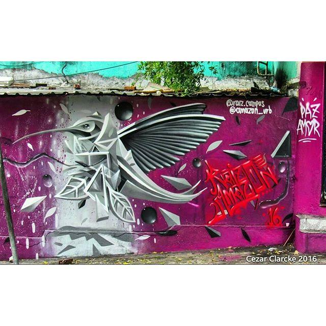 @amazon_urb нарисовал в Манаусе (Бразилия). Photo by @cezarclarcke. #amazon_urb #manausstreetart #graffiti_manaus #graffitisp #graffitisaopaulo #streetartsp #streetartbrazil #streetartbrasil #streetartbr #brazilstreetart #graffitibrasil #brasilgraffiti #brazilgraffiti #igersbrazil #ig_brazil #graffitibrazil #граффити_tschelovek #streetart #urbanart #graffiti #mural #стритарт #граффити #wallart #artederua #arteurbana #streetart_daily #streetarteverywhere