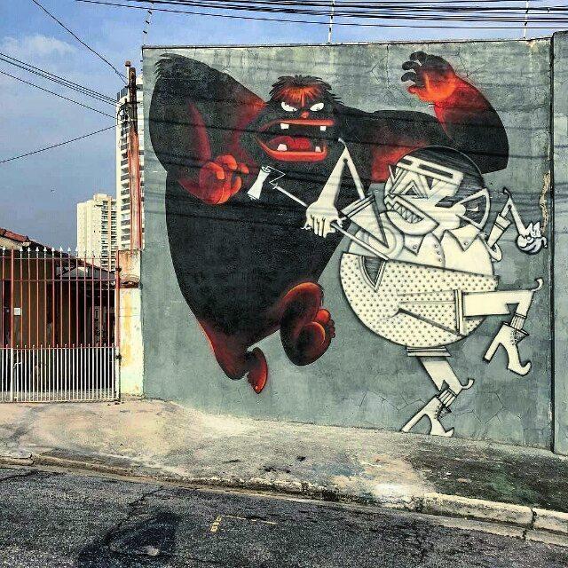 @nhobi_cerqueira + @fabiobiofa в Сан-Паулу. #nhobi #biofa #saopaulograffiti #graffitisp #graffitisaopaulo #streetartsp #streetartbrazil #streetartbrasil #streetartbr #brazilstreetart #graffitibrasil #brasilgraffiti #brazilgraffiti #igersbrazil #ig_brazil #graffitibrazil #граффити_tschelovek #streetart #urbanart #graffiti #mural #стритарт #граффити #wallart #artederua #arteurbana #streetart_daily #streetarteverywhere
