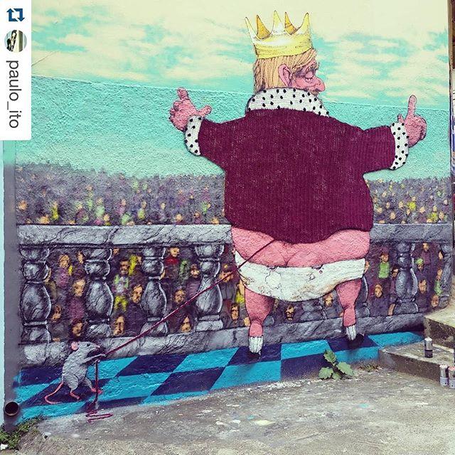 Demorei um pouco para postar aqui! Mas agora está ai, o processo e o fim com uma parceria que adorei!! Valeu Paulo itooooo!!! ️ #Repost @paulo_ito with @repostapp. ・・・ São Paulo - 2015 - with @annegalante #yarnbomb #crochet #crochetting #graficrochet #annegalante #streetartsp #streetart #collab #handmade #grafite #diy