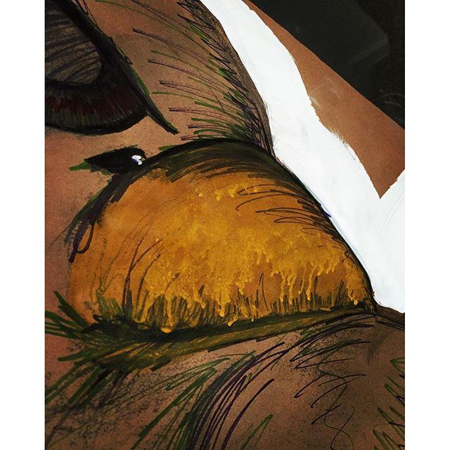 Os detalhes que me encantam durante um projeto. #acrilicpaint #tintaacrilica #wheatpaste #wheatpasteart #lambelambe #lambeart #inprogress #streetart #streetartsp #artederua #artederuasp #logomais #querovercolado