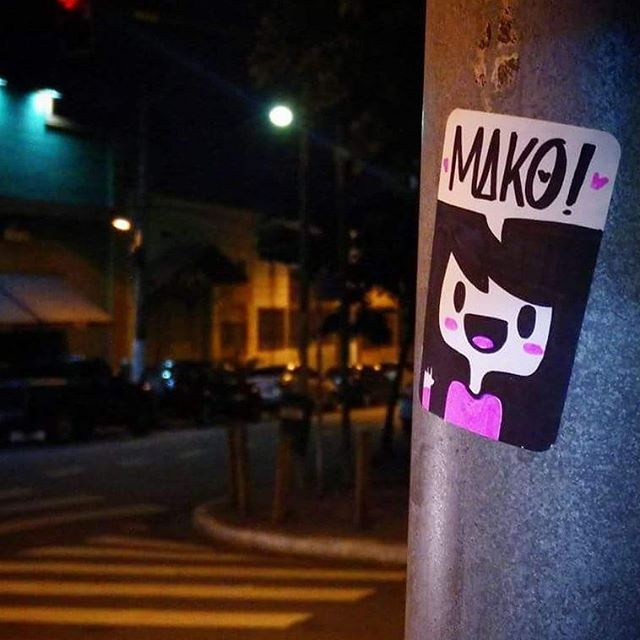 Sticker na #LapaSP  #streetart #streetartsp #mako #sticker #analage