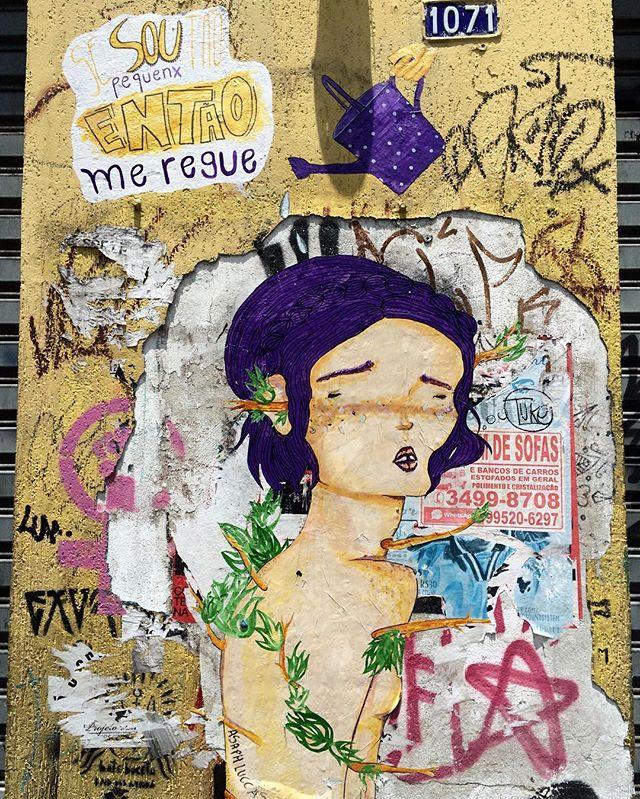 Sou pequenx...então me regue - Rua Augusta #taescritoemsampa #olheasruas #olheosmuros #graffitiart #sampagraffiti #oquearuafala #oqueasruasfalam #oqueosmurosfalam #vozesdacidade #lambe #lambelambe #arteurbana #super_saopaulo #sp4you #aruafala #brhdr #brarts #mostreseuolhar #InstaPicTen #vozesdacidade #obompaulistano #tv_streetart #coolsampa #nasruasdesp011 #mundoruasp #SilencioDasRuas #streetartsp #streetartphotography