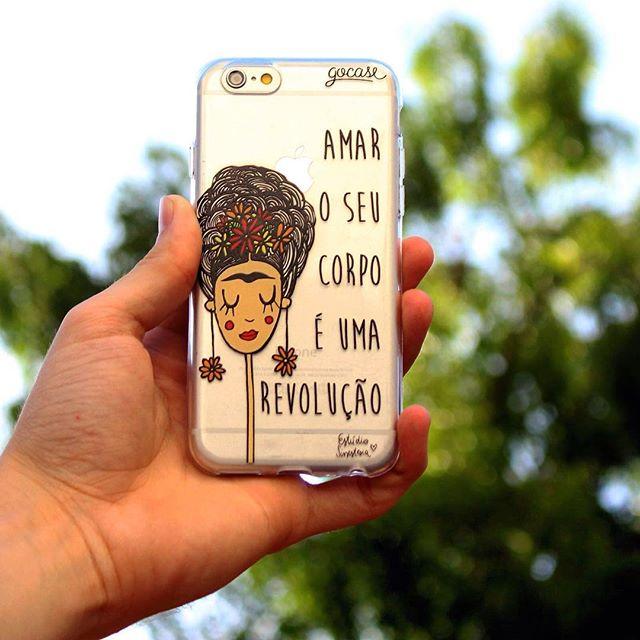 """dos lambes pros celulares ️ case """"revolução"""" disponivel no site www.gocase.com.br"""