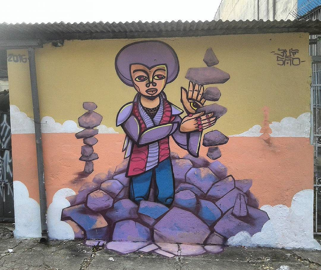 Muro pronto  #mural #graffiti #equilibrio #pedras #balance #ruavergueiro #Ipiranga #streetartsp #elgraffiti #instagrafite #paredeviva #sp #3visao