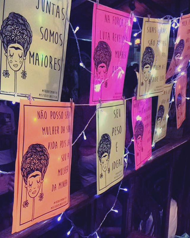 varalzin de ontem na FINO&FARTO  foto do @danieldepaulaayoub  #fridafeminista