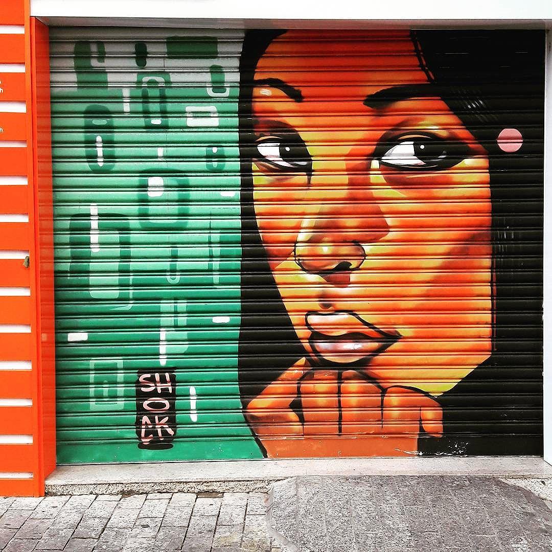 Lucky shop in Consolação (São Paulo) Artist: @shockmaravilha13 #shockmaravilha #shock #sambadograffiti #sampagraffiti #graffiti #graffiti_clicks #grafite #graf #streetart #streetartsp #streetphoto #streetarteverywhere #streetartphotography #spray #bagarre #spraypaint #urbanwall #urbanart #wallart #saopaulo #brasil #rsa_graffiti #bikini #braznu #sampa #tv_streetart #saopaulocity #tv_sa_simplicity_graff #streetartofficial #consolacao